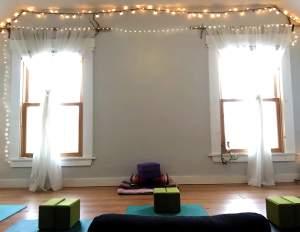 private yoga space